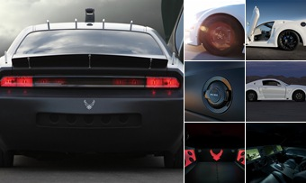 "Просмотр альбома ""Dodge Challenger Vapor and Ford Mustang X-1"""