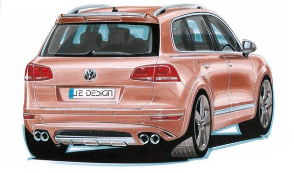 JE Design wide body conversion kit for 2011 VW Touareg 2