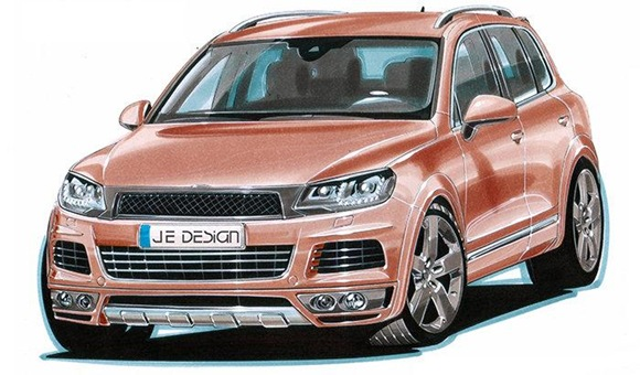 JE Design wide body conversion kit for 2011 VW Touareg