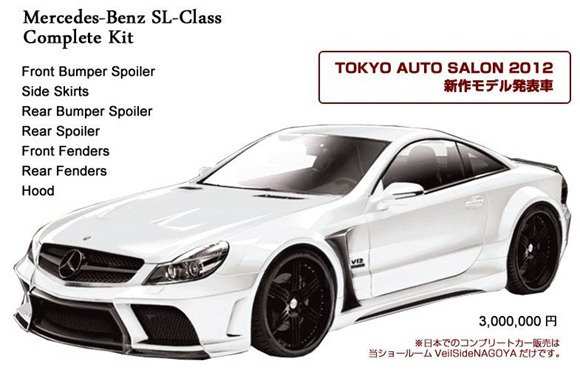 Veilside SL65 AMG Black Series conversion for SL-Class 2