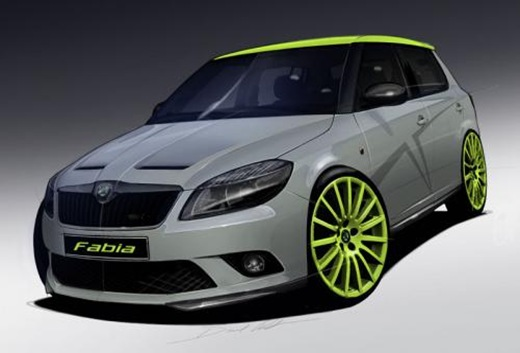 Skoda Fabia RS preview illustration
