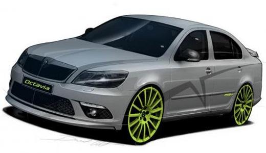 Skoda Octavia RS preview illustration
