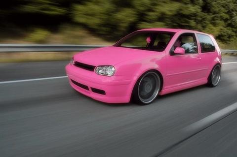 pink vw golf