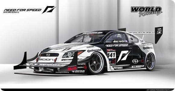 1100hp Scion tC AWD racer by Team NFS