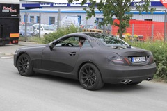 2012 Mercedes Benz SLK 63 AMG prototype spy photo  2