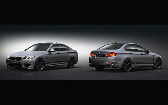 BMW 5-Series F10 aerodynamic-kit preview by Prior Design 3
